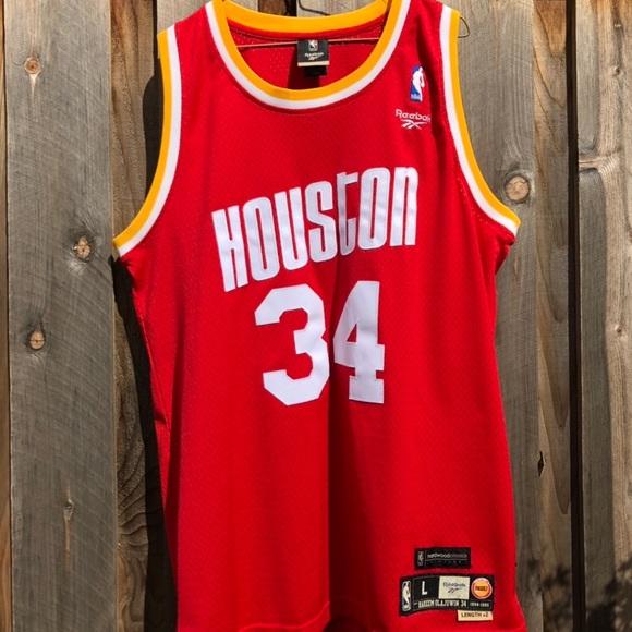 buy online b0fbe 3586a Houston Rockets Hakeem Olajuwon Jersey